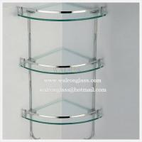 Best Three Layer Bathroom Shelf with Clear Tempered/Toughened Glass wholesale