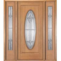 Quality Prehung Door with 2 Sidelites 170# for sale