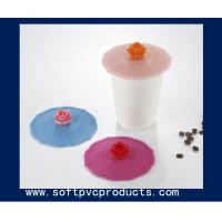 Quality Eco-friendly Office Soft PVC Coasters / Silicone Custom Beer Coasters Logo Products for sale
