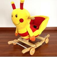 Quality Fashion Plush Rocking Honeybee Animal Toys With Music For Children Riding On for sale