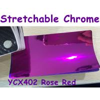 Quality Stretchable Chrome Mirror Car Wrapping Vinyl Film - Chrome Rose Red for sale
