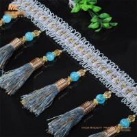 China Perfect accessories handmade polyester ball chain beaded tassels fringes for cushion on sale