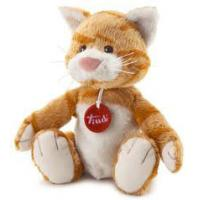 Quality Sitting Pose Brown Cat Plush Toys for sale
