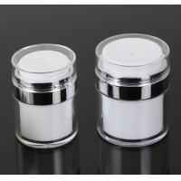 Quality Empty Airless Refillable Cosmetic Cream Jars Shatterproof for sale