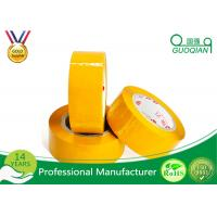 Yellowish Colored Duct Tape Waterproof Masking Tape For Carton Sealing Hot Melt Adhesive