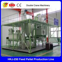 Buy HKJ-250 Low Price Chicken Feed Pellet Line 1tph at wholesale prices