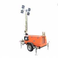 Quality Outdoor Mobile Lighting Tower Kubota Diesel Engine Manual Mast 9m for sale