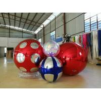 Best Stage Decoration Gold Mirror Ball Inflatable 3m PVC Giant High Tension wholesale