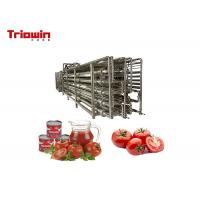 Quality Complete Tomato Sauce Processing Equipment / Tomato Pulp Making Machine 1291.6kw for sale