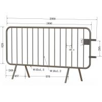 Quality Bristain Standard Hot Dipped Galvanized Crowd Control Barriers Cross Foot for sale