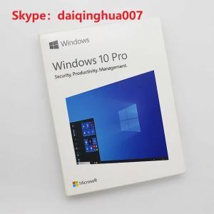 Quality 32 Bit / 64 Bit Microsoft Windows 10 Pro Retail Box Global Activation Online for sale