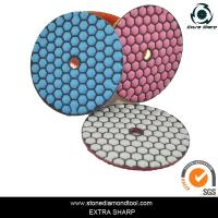 China 80mm Dry stone marble granite polishing abrasive pads for grinder on sale