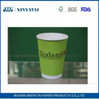 Best Custom Insulated Ripple Wall Paper Cups for Hot Drinks or Cold Drinks , Disposable Tea Cups wholesale