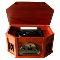 Quality 2015 Populat Vintage CD Turntable Cassette Player with AM FM Radio for sale