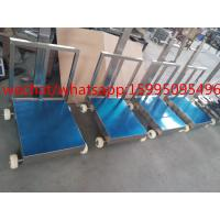 Buy Movable Bench Weighing Scale With Wheels / Back Rail 60 X 80cm 500kg ROHS Approved at wholesale prices