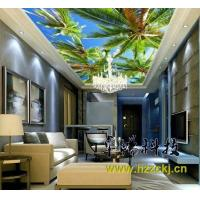 Quality Palm Tree Integrated Ceiling System Bamboo Fiber Soundproof Ceiling Board for sale