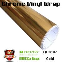 Quality Chrome Mirror Car Wrapping Vinyl Film 3 layers - Chrome Gold for sale
