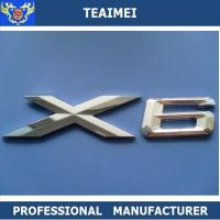 China Car Sticker X6 Chrome Letter Custom Car Emblems with Chrome Plated Finish on sale