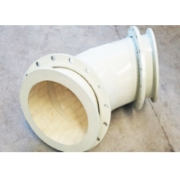 Quality 3.65g/Cm3 High Alumina Ceramic Lined Pipe Fittings , FBE Wear Resistant Elbow for sale