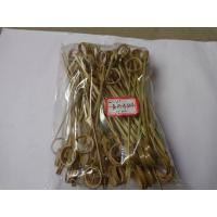 Buy cheap 15cm Bamboo Cocktail Picks Skewer With Knotted Ends Bulk Party Appetizers from wholesalers