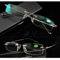 Quality Rimless Memory Titanium Reading Glasses Reader With Coating for sale