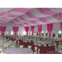 Quality 300 People Luxury Wedding Tents Rentals Aluminium Frame Marquee With Transparent PVC Windows for sale