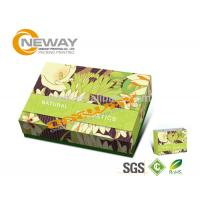China Folding Cardboard Floor Display Stands / Cosmetic Packaging Box on sale
