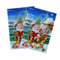 Quality Merry Christmas plastic 3d lenticular lens printing sticker flip animation Wall Sticker for sale