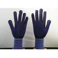 Quality Navy Blue Insulated Work Gloves , Nitrile Dipped Work Gloves Flexible Tactility for sale