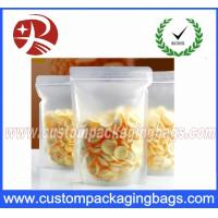 Buy cheap Matte Transparent Plastic Food Packaging Bags With Stand Up For Snacks Packing from wholesalers