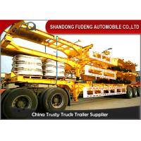 China Tandem Axle Skeletal Container Trailer With 12R22.5 Tire 40ft  Dimension on sale