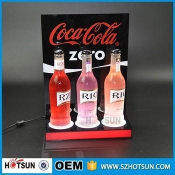 Buy Acrylic Led wine bottle display,Led liquor bottle display shelf at wholesale prices