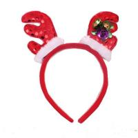 China Fashion Antlers Headband Hat - Plush Rindeer Ears Costume Accessory For Party on sale