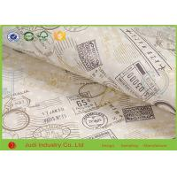 China Christmas Gift Wrapping Paper Roll Gravure Printing With Gold Sheet on sale