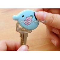 Quality Fashion Customized Double-sided PVC Rubber Key Cover Cartoon Animal Shape Key Cap for sale