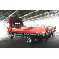 China 4x2 Flatbed Howo Cargo Truck for Transport , 120HP Light Duty Truck , Red Fire on sale