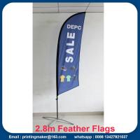 Quality Advertising Custom Flags Wind Feather Flags for sale
