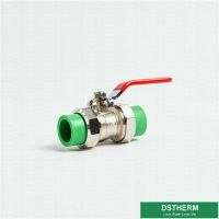 China Heavier Type Double Union Ball Valve PPR PN25 Strong Quality Water control for sale