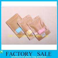 China Brown Ziplock Kraft Paper Pouches For Underwear Packaging , Stand Up Style on sale