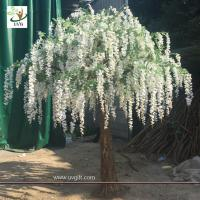 Best UVG walk way decoration 10ft white wisteria blossom fake trees for wedding WIS014 wholesale