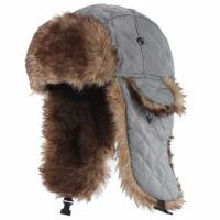 Buy cheap Mens Fake Trapper Ski Wool Winter Hat For Fingerless Glove Strings Buckle from wholesalers