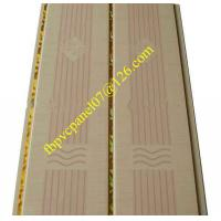 Quality PVC panel with double golden lines for sale