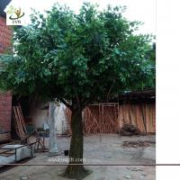 Best UVG indoor and outdoor walkway decoration realistic banyan artificial tree sale 13ft high GRE053 wholesale