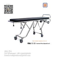 Quality Mortuary Folding Stretcher Trolley Mortuary Cot for Body Transfer for sale