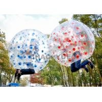 China Colorful Dots 1.5m 1.0mm PVC Inflatable Zorb Football Bubble Soccer Ball With CE Pump on sale