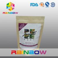 Quality Freeze Dried Super Food Power Customized Paper Bags With Adhesive Sticker Labels for sale