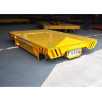 China Germany agriculture machinery plant transfer using motorized rail flat cart on sale