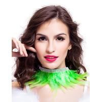 Quality 9 Colors Feather Dance Costumes Fabulous Feather Chocker Necklace Accessories for sale