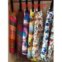 China fashion and Shiny Printed Flower PU Leather for shoes with woven backing on sale