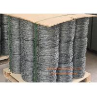 Quality Electro Galvanized Fence Barbed Wire For Grass Boundary / Highway Protecting for sale
